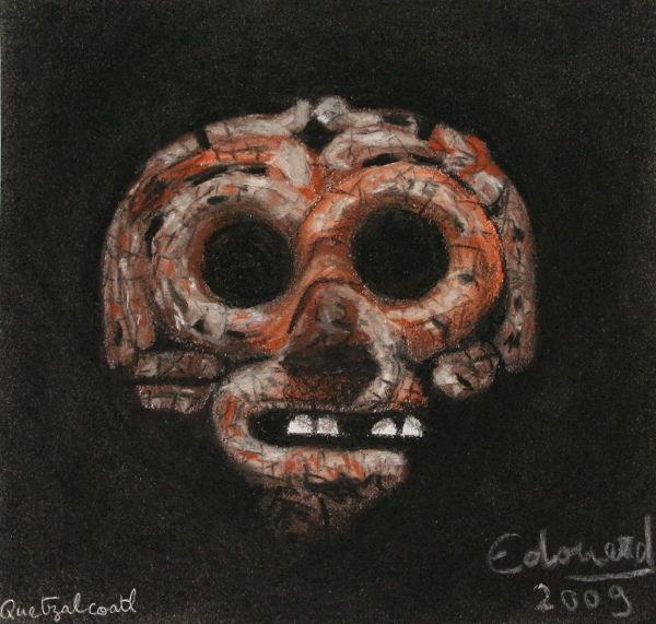 dessin-quetzalcoatl-masque