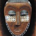 Masque Pende, dessin au pastel sec